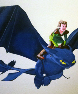 Zoom-Dragon Wall painting- Child's room -09.01.2014-Laetitia-Hildebrand