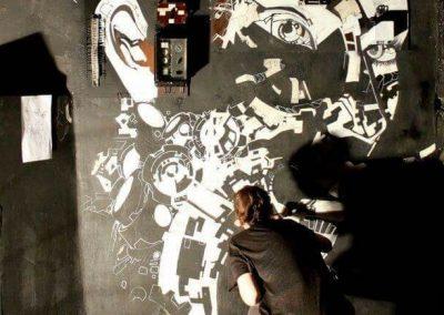 Laeti Wall painting, deco VOID Club (Berlin- Friedrichshain) - 22.07.2015