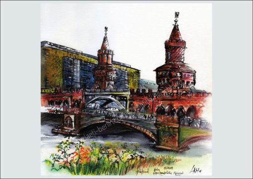 Postcard Oberbaumbrücke, Laeti-Berlin, recto