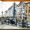 "Urban Sketch ""Spittelmarkt"", Sketch Book- 08/04/2010 © Laetitia Hildebrand"