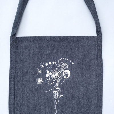 Tote sling bag recycled Clown, grey