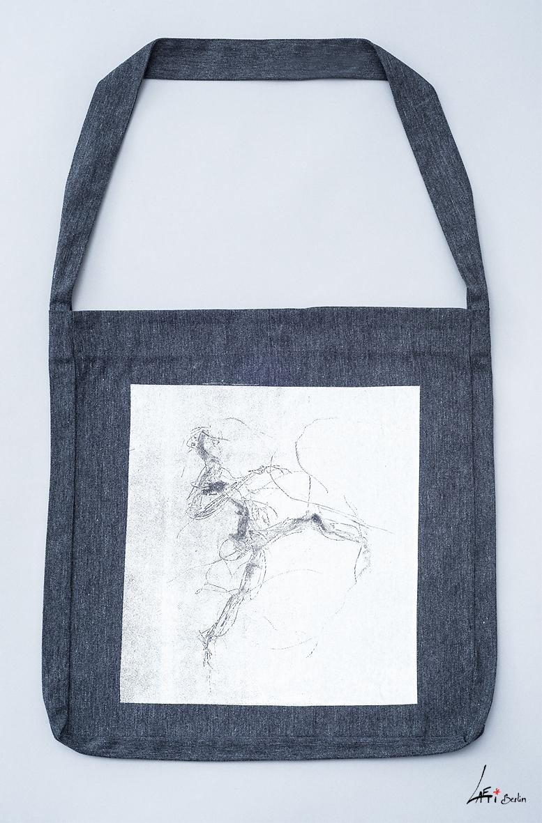 tote sling bag recycled electric dancer grey Laeti-Berlin