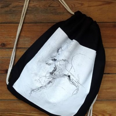Gym Bag Black Laeti-Berlin, Electric Dancer, bio & fairtrade textil