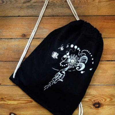Gym Bag Black Laeti-Berlin, Emotions, bio & fairtrade textil