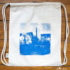 "Face- Gym Bag natural - Urban Sketch of ""Cuvrystr."", Graffiti Blu, Laeti-Berlin"