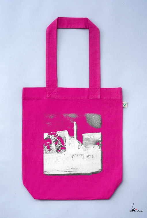 Tote bag colored Cuvrystr. hot pink Laeti-Berlin
