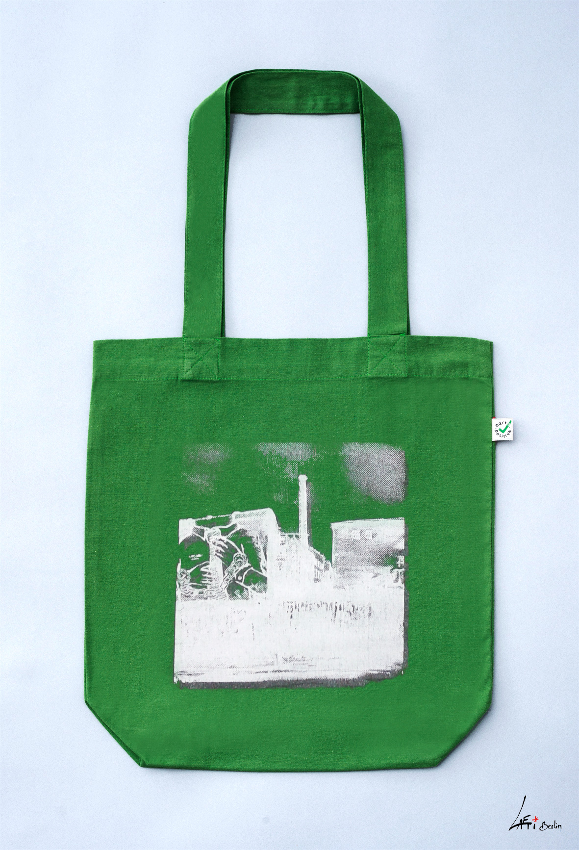 Tote bag colored Cuvrystr. leaf green Laeti-Berlin