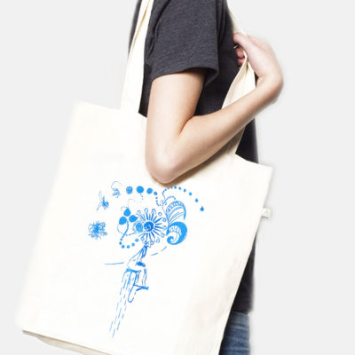 Tote bag recycled Clown natural Laeti-Berlin