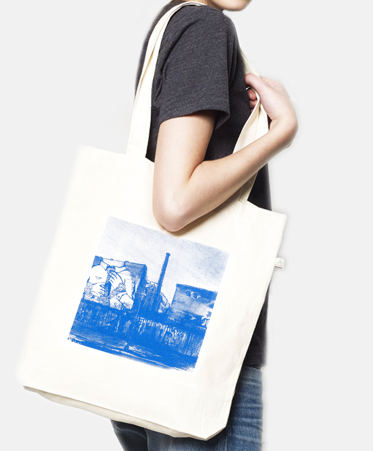 Tote bag recycled Cuvrystr. natural Laeti-Berlin
