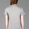 Back- T-shirt Rolled Sleeve, Mel. grey- Unisex