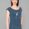 T-shirt Bamboo, Denim Blue- Woman - Danseur Velouté