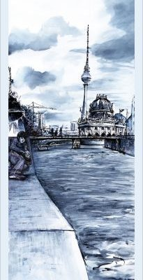 Bode-Museum Berlin -Poster, Urban Sketch Berlin vertical
