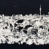 Print Panorama Berlin - Klunkerkranich White - black t-shirt