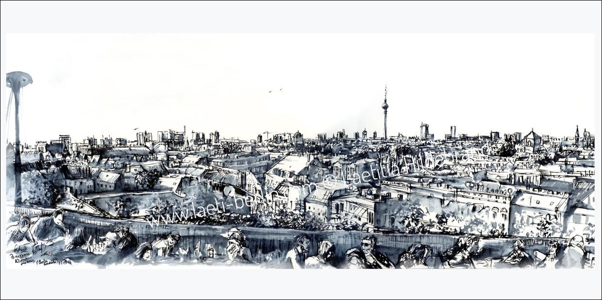 Postcard Panorama Berlin Klunkerkranich
