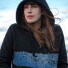Pullover Hoody with side pockets- Blue print