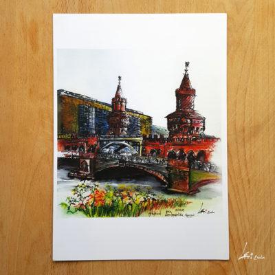 Oberbaumbrücke- Poster A4 - Berlin