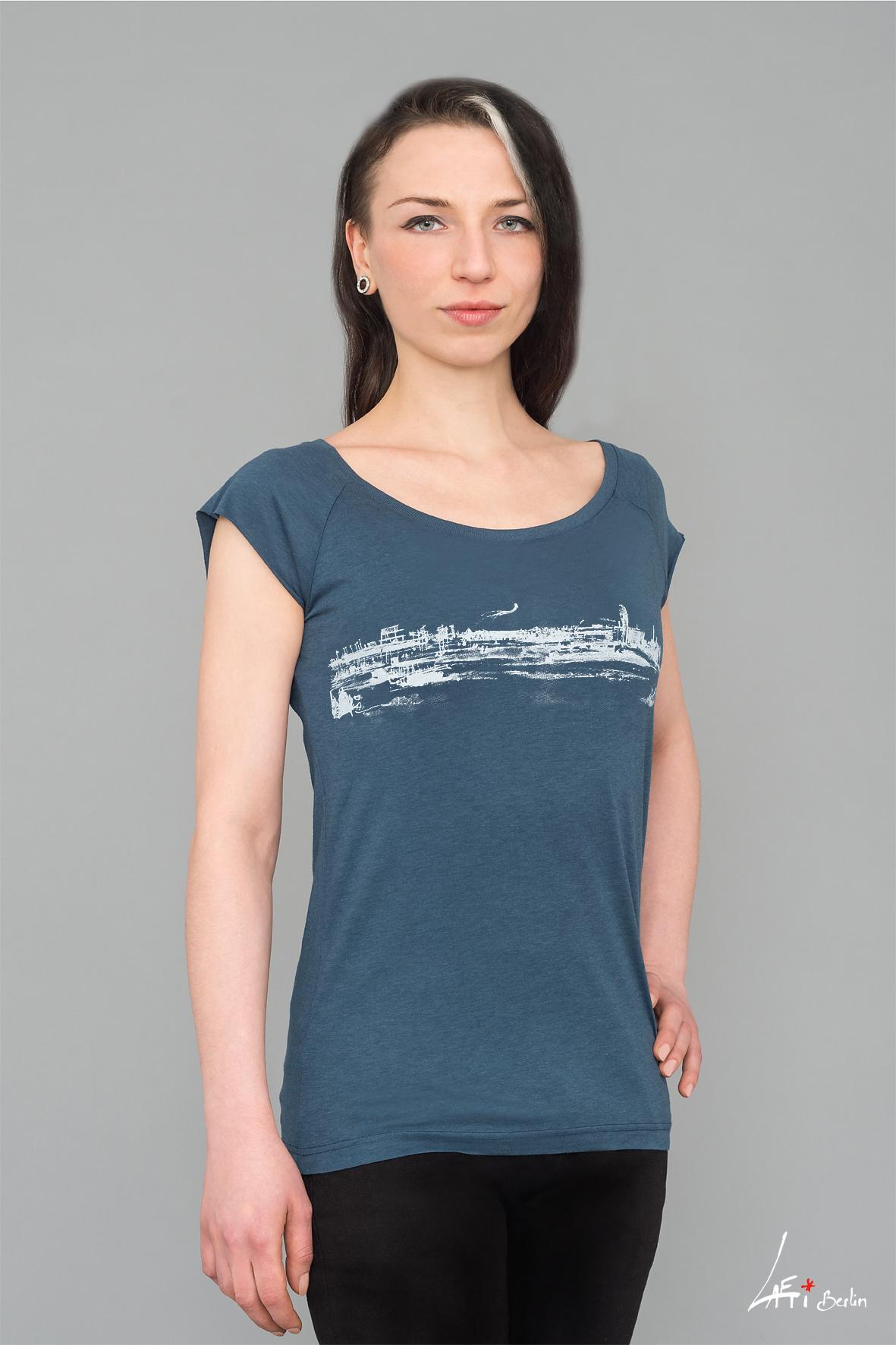Tempelhof - T-shirt Bamboo, Denim Blue- Woman