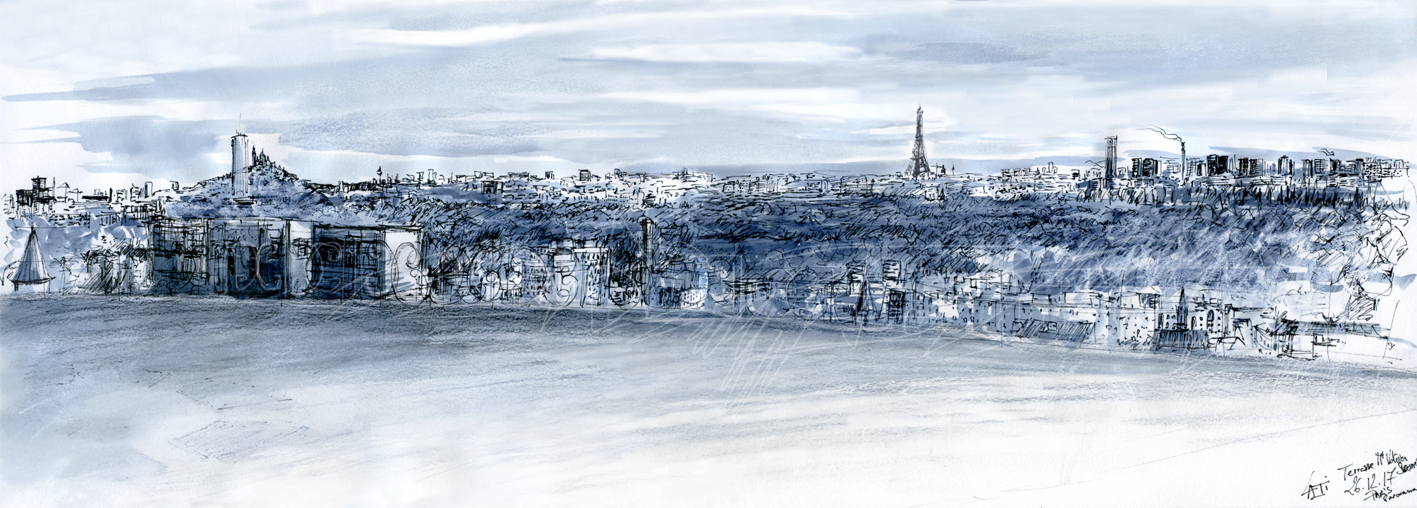 26.12.2017- Panorama Paris, Terrasse Mont Valérien (Suresnes, Fr.)