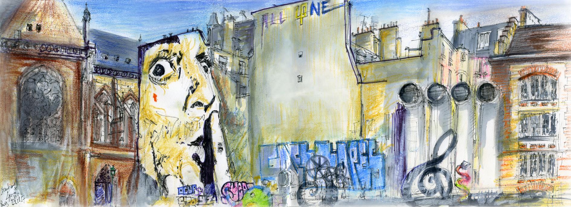 29.12.2017- Chut! IRCAM – Fontaine Stravinsky, Beaubourg (Paris,Fr.)
