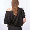 BACK-T-shirt cropped -BLACK- Woman