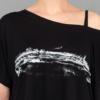Tempelhof-ZOOM-FACE-T-shirt Tencel -BLACK- Woman