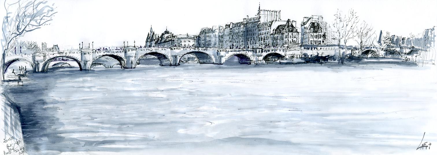 20.03.18- Pont Neuf , Ile de la Cité (Paris, Fr.)