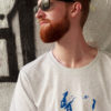 T-shirt-Unisex-Danseur Veloute- White-Mel, Print-Blue-3