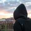 Back pullover hoody black