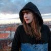 hoodie panorama berlin blue