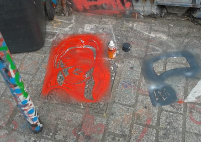 Laeti- Stencil rue Dénoyez, 07.03.15- pochoir