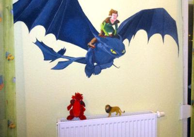 Dragon Wall painting- Child's room -09.01.2014-Laetitia-Hildebrand -2