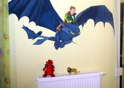 Dragon Wall painting- Child's room -09.01.2014-Laetitia-Hildebrand -2