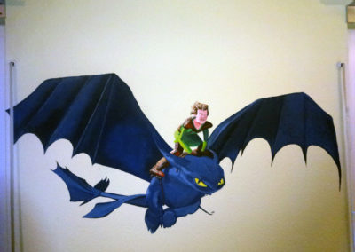 Dragon Wall painting- Child's room -09.01.2014-Laetitia-Hildebrand -1