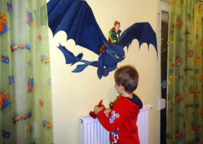 Rémy- Dragon Wall painting- Child's room -09.01.2014- Laetitia Hildebrand