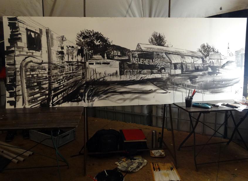 Live-painting for Berlin Partner @ Neue Heimat
