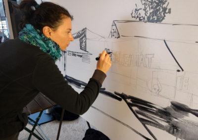 Laeti- Wall Painting Show- Portrait Laeti- Neue Heimat- 09.09.15- Berlin- BD