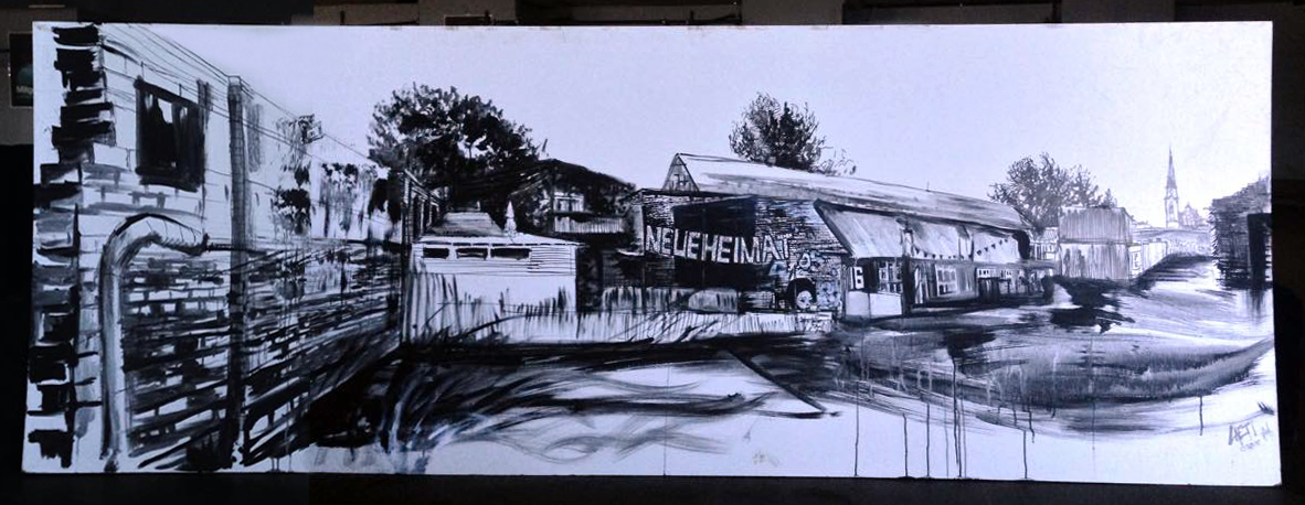 Live-painting for Berlin Partner @ Neue Heimat