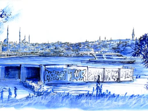 22.04.19- Galata Bridge – Skyline of Eminönü (Istanbul, Tu.)