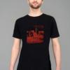 T-shirt-Cuvrystr.-Black--Red-print--Man