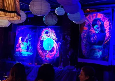 Live paintings 2, 3 and 4 with black light - final