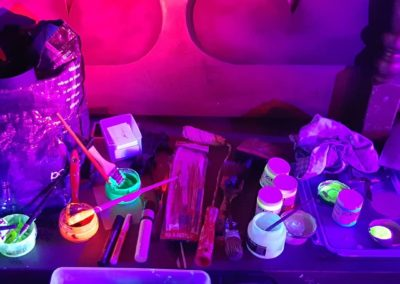Materials - Live painting with blacklight- Ritterbutzke-25.08.19