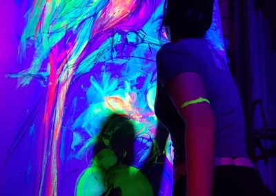 Exotic Perrot - Live painting 1 with blacklight- Ritterbutzke-25.08.19