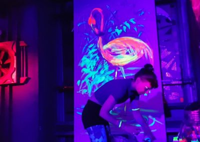 Video Exotic Flamingo - Live painting 2 with blacklight- Ritterbutzke-25.08.19