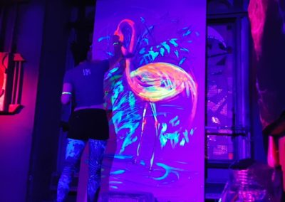 Exotic Flamingo- Live painting 2 with blacklight- Ritterbutzke-25.08.19