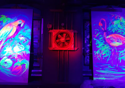 Live painting with blacklight- Ritterbutzke-25.08.19