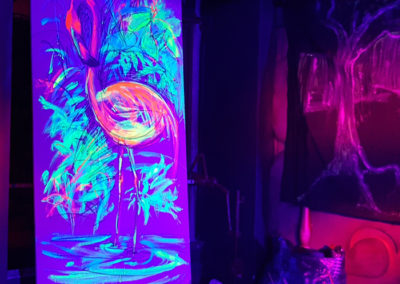 Exotic Flamingo 2- Live painting 2 with blacklight- Ritterbutzke-25.08.19