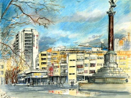 17.01.19- Mehringplatz (Berlin-Kreuzberg)