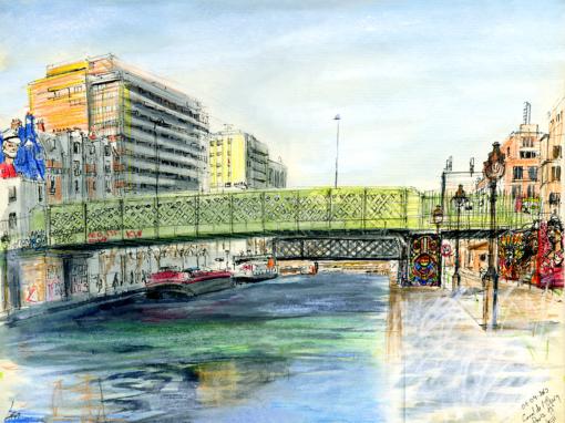 01.04.19- Canal de l'Ourcq, quai de la Marne (Paris- 19ème arr., Fr.)