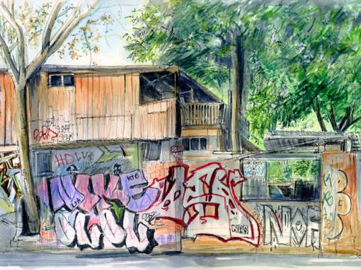 08.05.19- Baumhaus an der Mauer (Berlin-Kreuzberg)